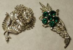 Possible Marcel Boucher ,Two Rhinestone Brooches : Lot 291