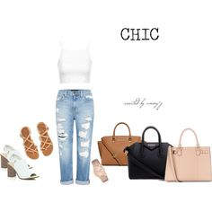 A fashion look from March 2015 featuring white top, distressed jeans and beach shoes. Browse and shop related looks. Beach Shoes, Distressed Jeans, White Tops, River Island, Givenchy, Topshop, Fashion Looks, Michael Kors, Denim