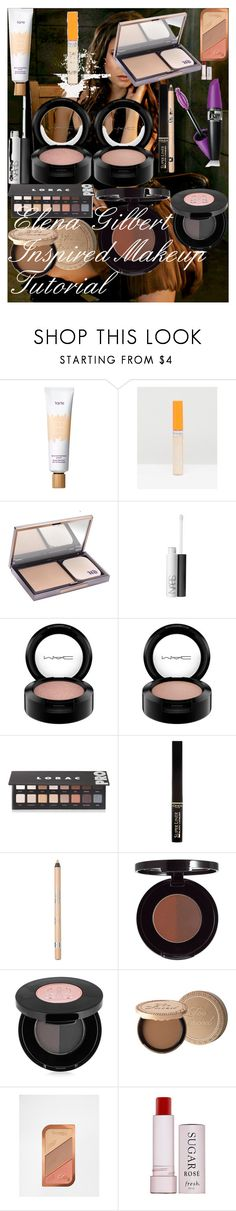 Elena Gilbert Inspired Makeup Tutorial by oroartye-1 on Polyvore featuring beauty, Too Faced Cosmetics, Urban Decay, NARS Cosmetics, Anastasia Beverly Hills, MAC Cosmetics, L'Oréal Paris, Rimmel, LORAC and tarte