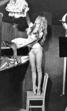 Brígítte Bardot in her dressing room, 1956
