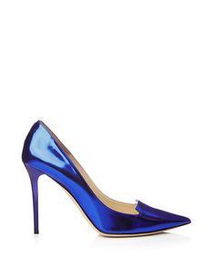 Women's Avril blue leather heels - Jimmy Choo Sale what a fabulous colour!!