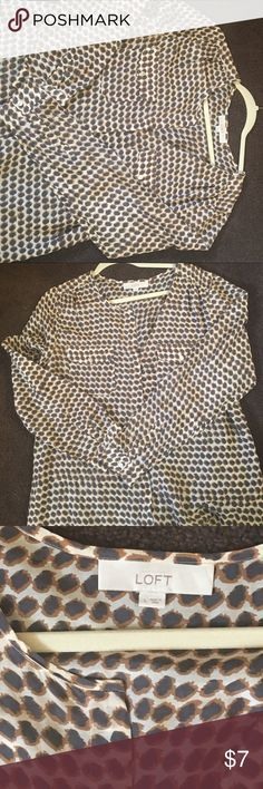 Loft cotton and silk blouse. Lightweight and breezy . Great for summer wear . LOFT Tops Blouses