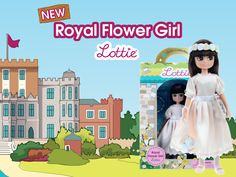 Royal Flower Girl Lottie - New Lottie Doll Royal Girls, Flower Girl Gifts, Flower Crown, Playing Dress Up, Girl Dolls, Perfect Wedding, Wedding Favors, Super Cute, Bridal