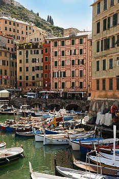 Camogli, one of the Cinque Terres, Liguria, Italy