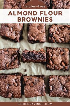 These Almond Flour Brownies are just as delicious and fudgy as traditional brownies, but gluten-free, lower in carbs, & absolutely delicious! #brownies #glutenfree #almondflour #coconutsugar Gluten Free Brownies, Gluten Free Cakes, Gluten Free Desserts, Easy Desserts, Delicious Desserts, Awesome Desserts, Dessert Recipes, Healthy Desserts, Yummy Food
