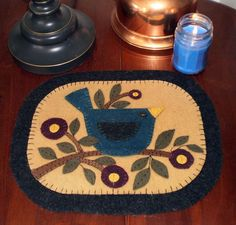 PENNY RUG Bluebird on Branch Instant Download E PATTERN
