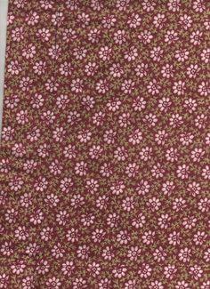 "Vintage/Retro Sanderson ""Bridget"" Pink Flowery/Floral Material/Fabric Curtains"