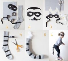 Have your kids made up their minds about what to wear for Halloween? Take a look at these Halloween costume ideas that are super cute, yet easy to make too! Halloween Arts And Crafts, Cute Halloween Costumes, Fall Halloween, Raccoon Halloween, Halloween Ideas, Outdoor Halloween, Halloween Stuff, Vintage Halloween, Halloween Makeup