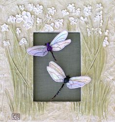 Image detail for -Luan B. Callery Dragonflies - a Stumpwork Embroidery