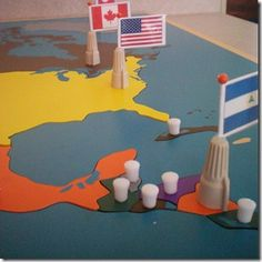 Montessori Puzzle Maps and Flags (Alternative to Pin Maps) from Growing a Godly Girl Basic Geography, Geography For Kids, Preschool Learning Activities, Teaching Kids, Kids Learning, Montessori Elementary School, Elementary Schools, Maria Montessori, Cultural Studies