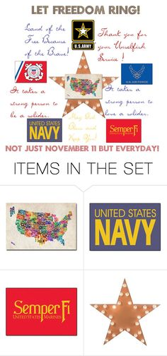 """Happy Veteran's Day!"" by foreevers ❤ liked on Polyvore featuring art"