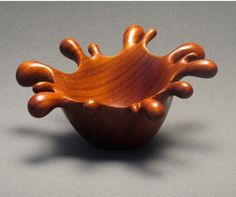Padouk Wood Splash Bowl. Very impressed with this design and craftsmanship.