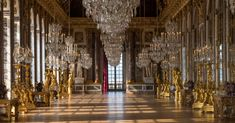 The Palace of Versailles - The Hall of Mirrors, the most famous room in the Palace, was built to replace a large terrace designed by the architect Louis Le Vau, which opened onto the garden. terrace design The Hall of Mirrors Versailles Hall Of Mirrors, Hall Mirrors, Entryway Mirror, Palace Of Versailles, Jules Hardouin Mansart, Rustic Staircase, Gian Lorenzo Bernini, Small Hallways, Terrace Design