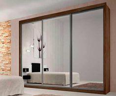 Guarda-Roupa Ravena Top 3PT com Espelho 6GV Wengue