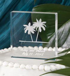 Mi Emporium - Etched Palm Trees Cake Top