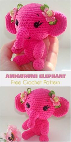 Amigurumi Elephant [Free Crochet Pattern] Perfect gift for children and adults.   Follow us to find more free crocheting patterns for amigurumi and toys.