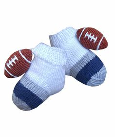 Baby socks  American football socks Baby shower gift Hand