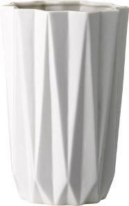 Diese weiße Vase ist ein echter Blickfang. Sie lässt sich durch die schlichte Farbe und das moderne Design vielseitig dekorieren.