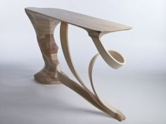 'Form or Function' console table by RJScott , via Behance Dining Table Legs, Console Table, Table Sketch, Stool, Chair, Sculpture Art, Furniture Design, Projects To Try, Interior Design