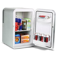 For an efficient and stylish way to keep food and beverages at their optimum temperature, the ChillMate Thermoelectric Mini Fridge Cooler and Warmer from bar is ideal. This 15 litre capacity fridge offers complete versatility with a cooling and Cool Mini Fridge, Fridge Cooler, Mini Cooler, Beer Cooler, Kitchen Refrigerator, Kitchen Appliances, Mini Fridge In Bedroom, Small Fridges, Homemade Beer