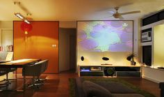 Projection wall instead of a TV