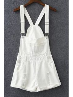 SHARE & Get it FREE | Hole White Square Neck Sleeveless OverallsFor Fashion Lovers only:80,000+ Items • New Arrivals Daily Join Zaful: Get YOUR $50 NOW!