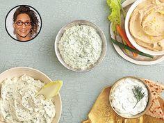 """Carla Hall Party Dip Recipes : People.com  """"Spinach and Feta Cheese"""""""