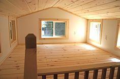 Sleeping loft with dormers - House # 4. | Molecule Tiny Homes