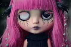 Persephone has been put on reserve and layaway for V. Please do NOT purchase unless you are V. Thank you! 2nd payment out of 2. $100 down payment already received. Total price of Persephone is $600 plus ship. ========= Persephone is a one of a kind Custom Blythe doll. She is my 110th custom Blythe doll. -A lot of time, thought,effort, and love went into making Persephone. -Persephones theme is based on the Greek goddess of the underworld, Persep...