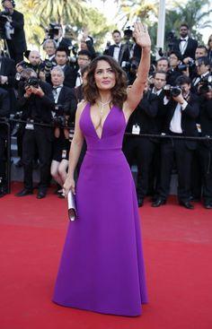 Salma Hayek de Gucci en el festival de Cannes 2015.