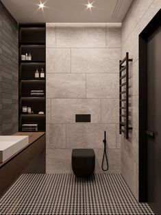 Home Decor Habitacion Industrile badkamer mat zwart toilet.Home Decor Habitacion Industrile badkamer mat zwart toilet Modern Bathrooms Interior, Small Bathroom Renovations, Modern Bathroom Design, Bathroom Interior Design, Home Interior, Modern Interior Design, Bath Design, Remodel Bathroom, Modern Toilet Design