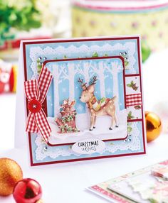 DIY Decoupage Woodland Christmas Cards - listed as free but requires a log-in. Woodland Christmas, Christmas Items, Christmas Craft Projects, Crafts Beautiful, Xmas Cards, Greeting Cards, Christmas Makes, Homemade Cards, Making Ideas