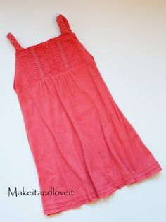Girls dress from women's shirt. Doing this one for Christmas...