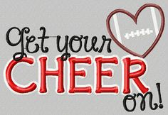 Embroidery design 5x7 Get your CHEER on by SoCuteAppliques on Etsy