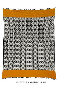 http://moebel.ladenzeile.de/shop-fashionforhome/?utm_medium=social&utm_source=pinterest_org&utm_campaign=wohnideen&utm_content=0617_all____fashionforhome&utm=dynamic rug, orange, black and white, pattern