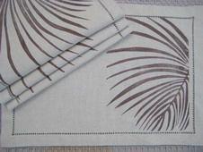 Tropical Palm Fronds Beach Decor Placemat & Napkins