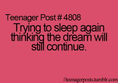 I try to do it but i never go back to sleep