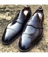 Handmade men black leather shoes, mocassin shoes for men, men formal dress shoes sold by Bishoo. Shop more products from Bishoo on Storenvy, the home of independent small businesses all over the world. Handmade Leather Shoes, Suede Leather Shoes, Leather Men, Soft Leather, Calf Leather, Men's Shoes, Shoe Boots, Shoes Men, Mens Grey Dress Shoes