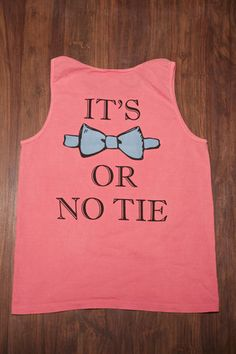 J.R. Crider's Clothing & Apparel — The Bow Tie Tank Top