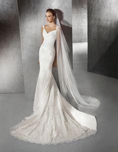 Kleid Zaneta im Meerjungfrau-Stil mit herzförmigem Dekolleté