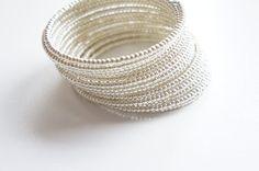Silver Miyuki Beaded Cuff Bracelet Bangle by ChooseLikeBuy on Etsy