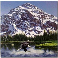 "wolf hidden painting | Purple Mountain"" -- Can you find and identify the various animals ..."