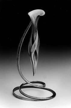 "Betty Helen Longhi | Metal | ""Vessel For Tears""  What a beautiful work of wrought art and such a tender title."