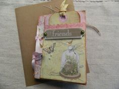 Friends Mini Gift Card Album by JandKKreations on Etsy