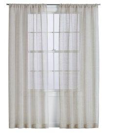 Linen Sheer Natural Curtain Panel
