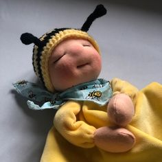 Bee Hat, Dolls, Blanket, Pillows, Hats, Baby Dolls, Hat, Puppet, Doll