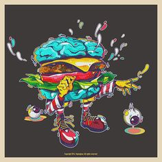 Brain Burger on Behance