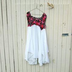 large  xxlarge   Upcycled clothing / Patchwork Dress by CreoleSha, $94.00