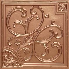 Decorative Ceiling Tiles, Inc. Store - Lillies and Swirls - Faux Tin Ceiling Tile - - Plastic Ceiling Tiles, Faux Tin Ceiling Tiles, Tin Tiles, Drop Ceiling Panels, Dropped Ceiling, Covering Popcorn Ceiling, Cheap Tiles, Tile Steps, Stencils