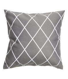 Jakardikudottu tyynynpäällinen | Harmaa/Kuviollinen | Home | H&M FI